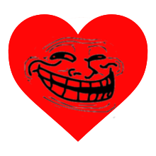 Trollololed Love Heart