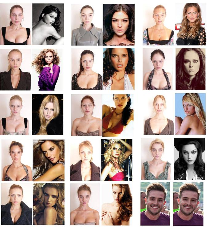 models and makeup