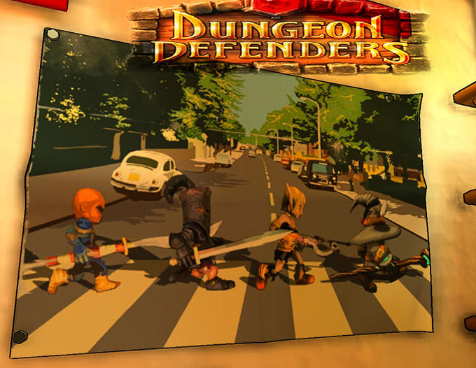 Abbey Road parody cover (Dungeon Defenders)