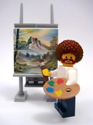 Lego Bob Ross