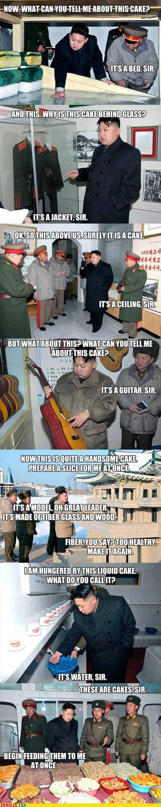 Cake is a primary resource in North Korea