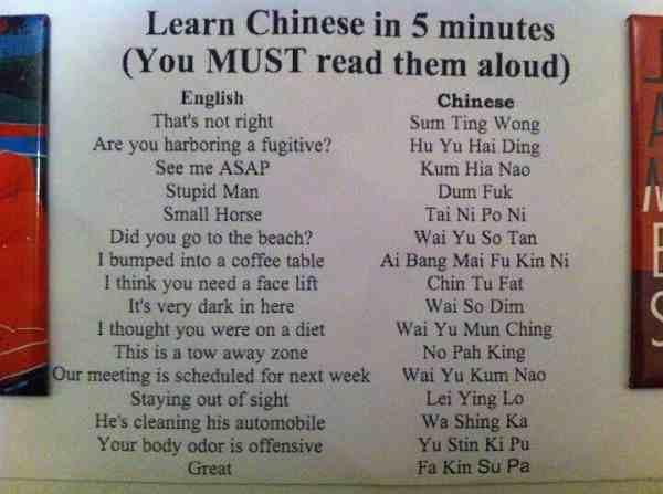 Learn Chinese In Minutes