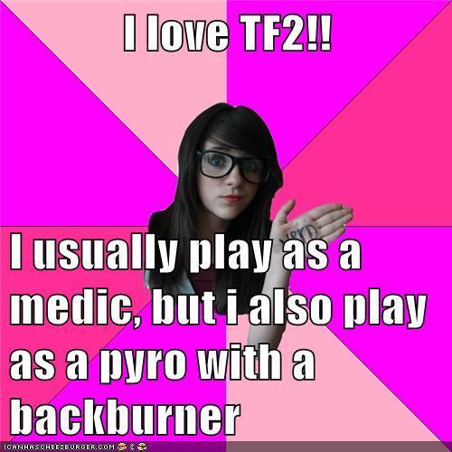 Idiot nerd girl-revers meme
