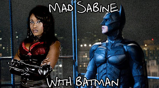 Mad Sabine Mondestin with Batman