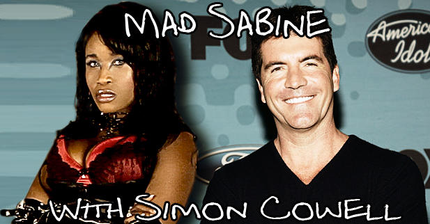 Mad Sabine Mondestin With Simon Cowell