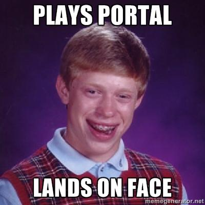 Bad Luck Brian plays portal