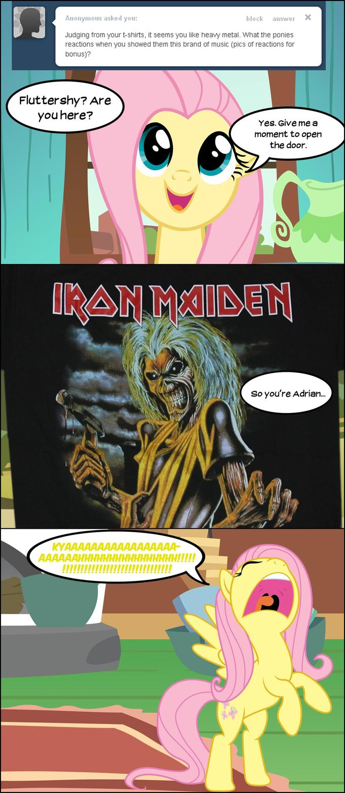 Fluttershy doesn't like Heavy Metal