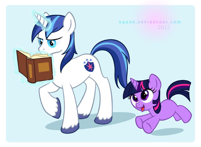 Whatcha readin', big brother? by aqane