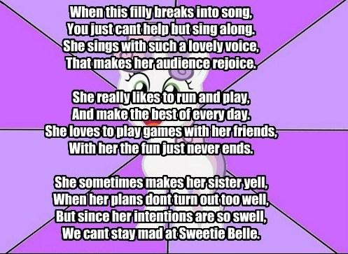 My Little Poetry: Sweetie Belle