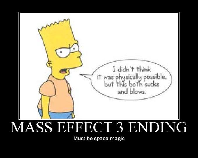 Bart Simpson Mass Effect 3 ending