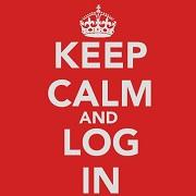 KEEP CALM AND LOG IN