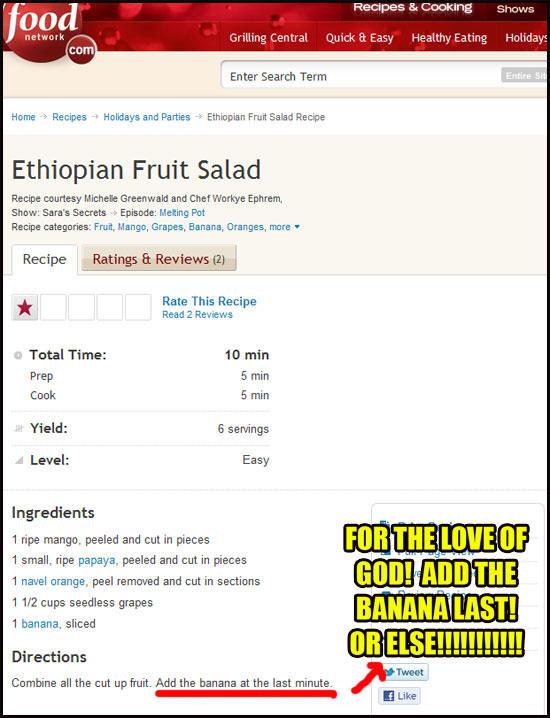 Ethiopian recipe?