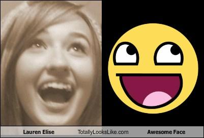 Lauren Elise Totally Looks Like Awesome Face