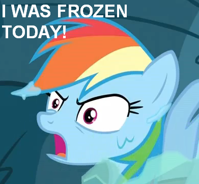 Dashie was frozen today