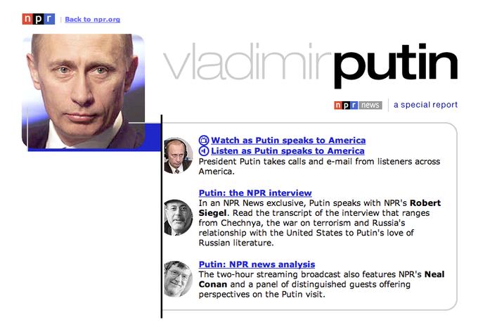 Putin on NPR