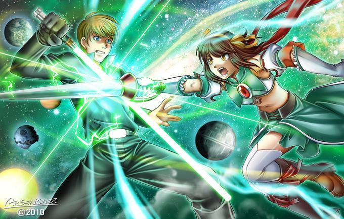 Haruhi Suzumiya VS Star War