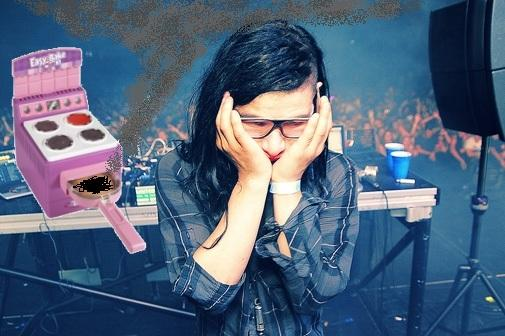 Skrillex not the culinary genius we thought he was?