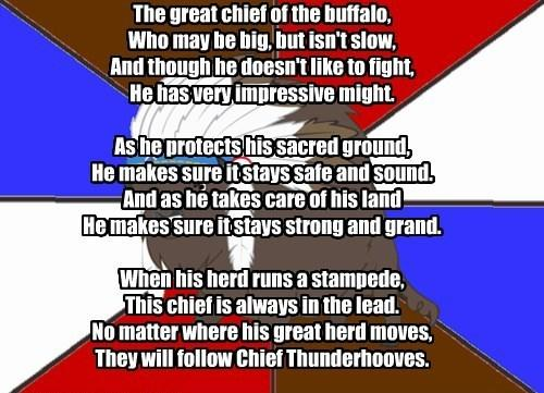 My Little Poetry: Chief Thunderhooves