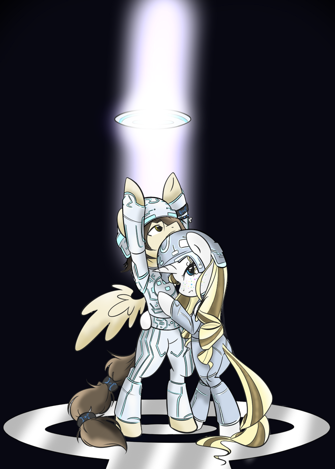 Tron Legacy poster ponified