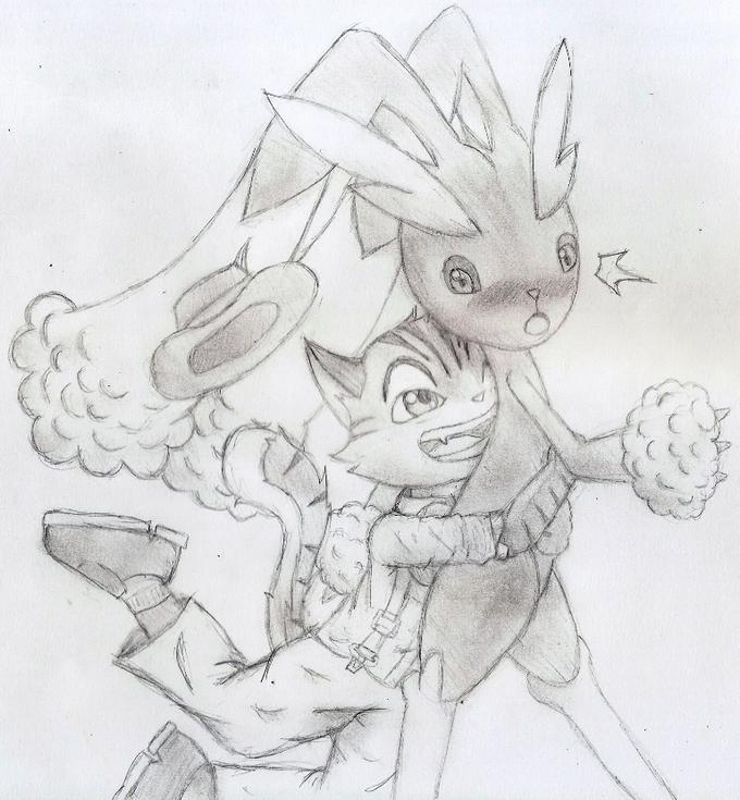 Rocky and Lopunny