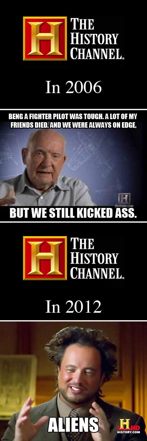 The HIstory Channel, then and now