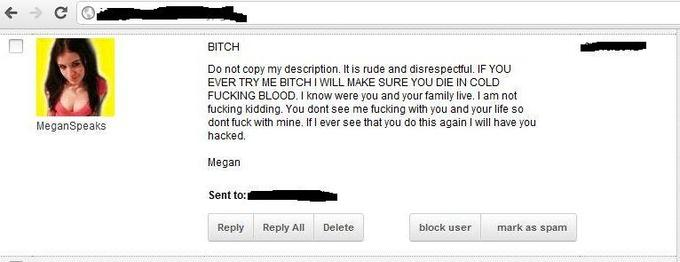 Megan's Death Threats