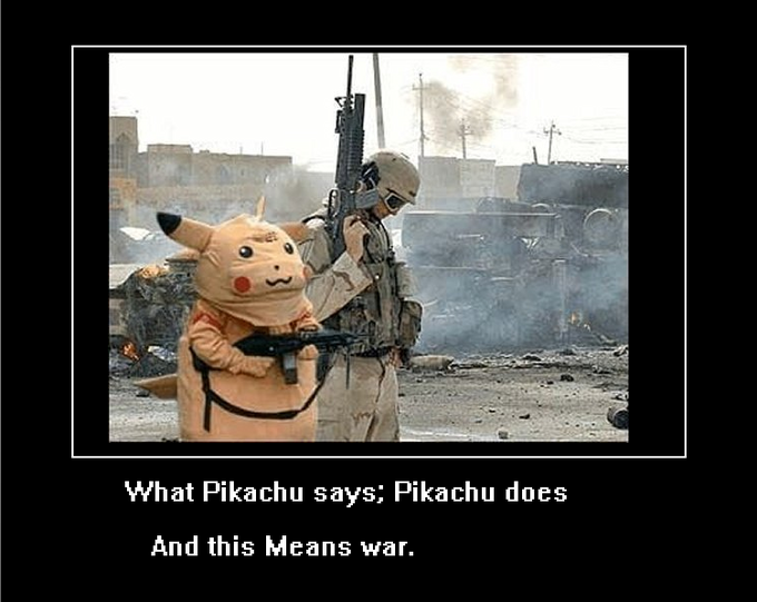 What Pikachu says; Pikachu does