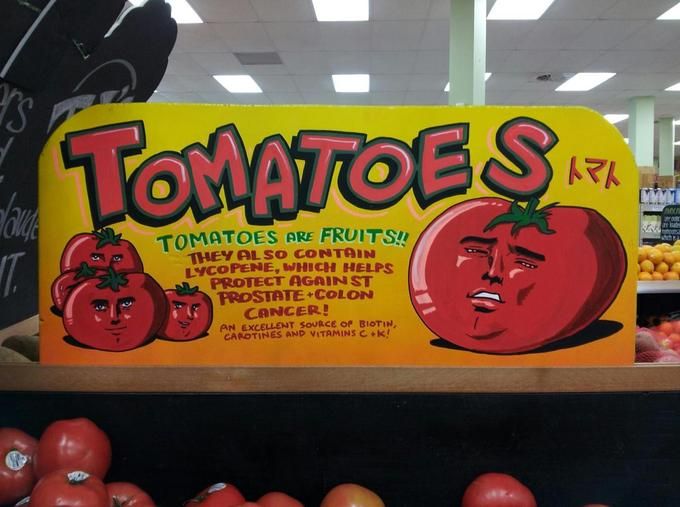 Didn't expect to see this face on a grocery store sign