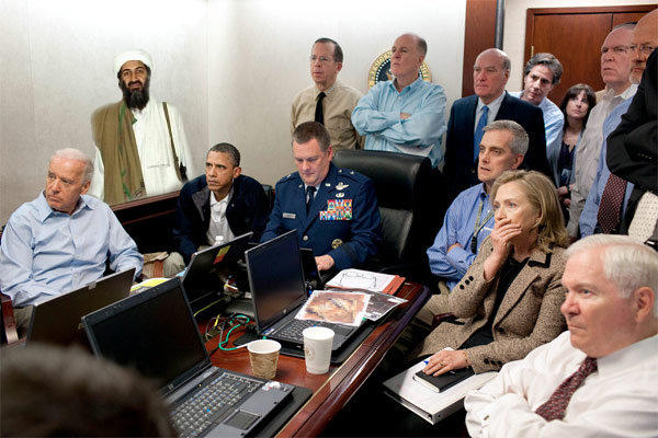 Osama at the situation Room