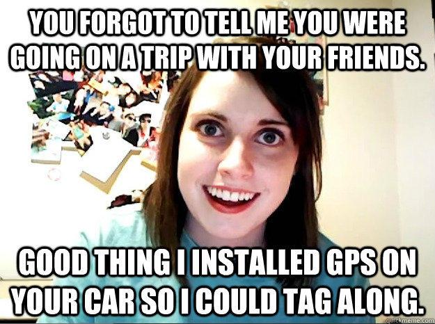 She Installed GPS