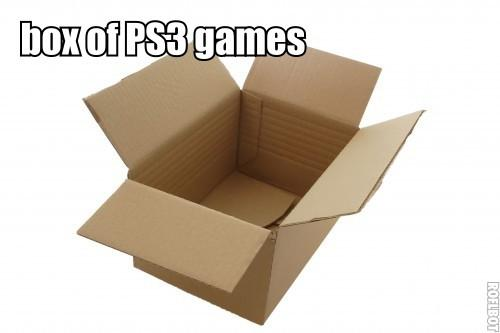 Box of PS3 games