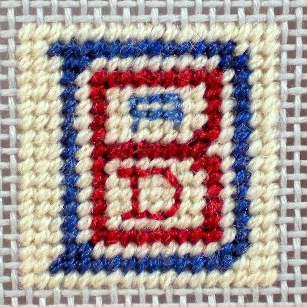 Wheaton's Law Logo Needlepoint Inchie