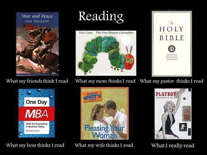 What people think I read