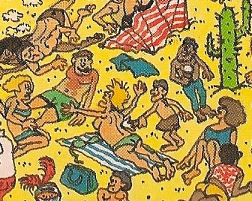 Topless lady in 'Where's Waldo?'