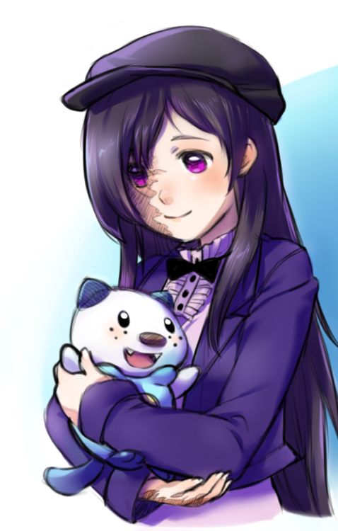 Hanako and Oshawott, by magicalondine