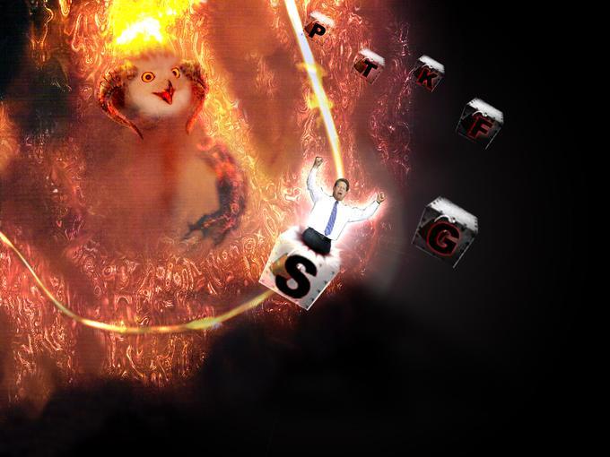 A Fire spirit summons Al Gore (PTKFGS mode)