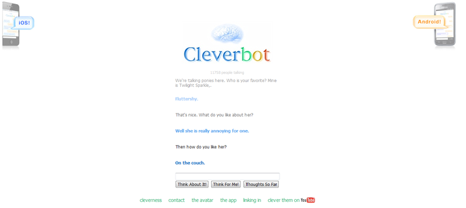 How Cleverbot likes it