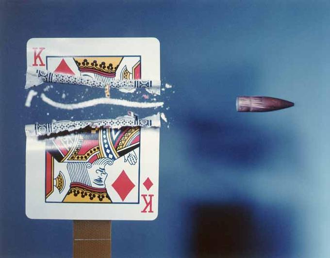 Harold Edgerton _Cutting the Card Quickly_, 1964