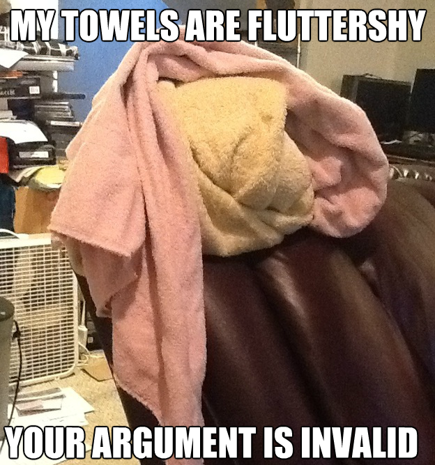 My towels are fluttershy