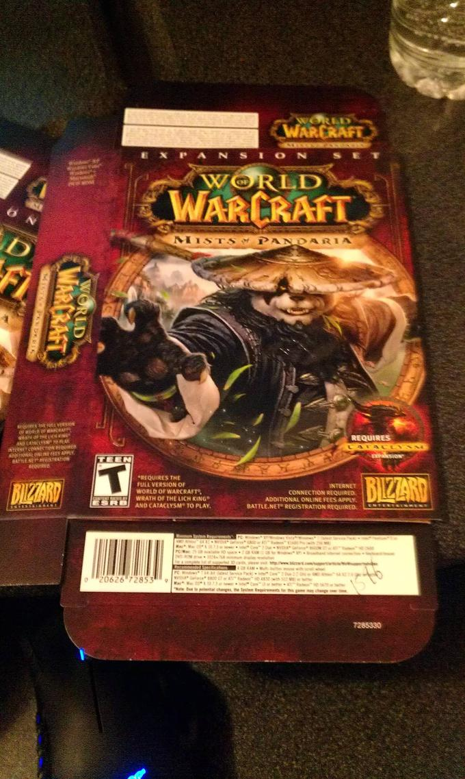 Mists of Pandaria Box Cover