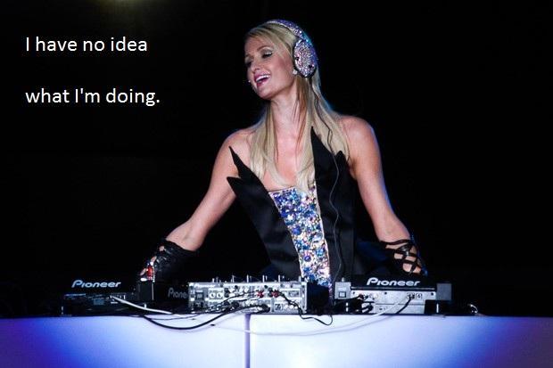 Paris Hilton DJing