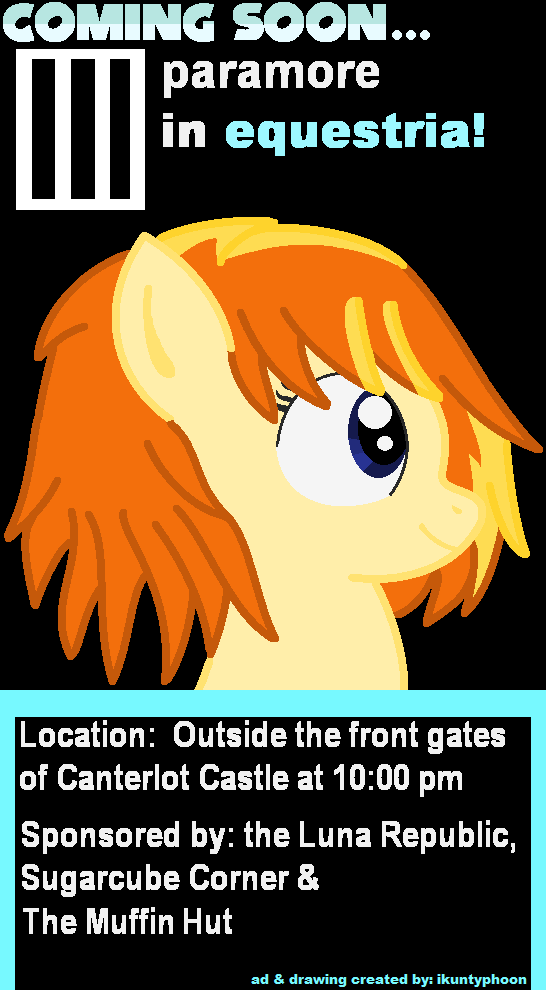 Paramore in Equestria poster
