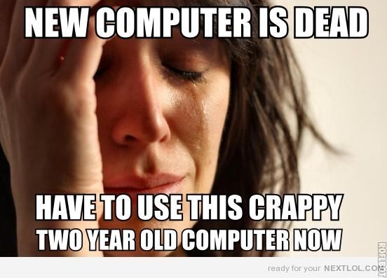 Have to use the old computer?