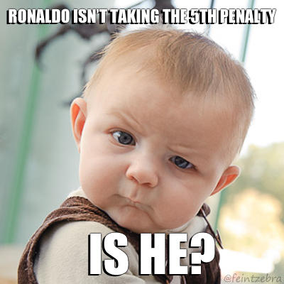 Ronaldo Takes The Fifth Penalty