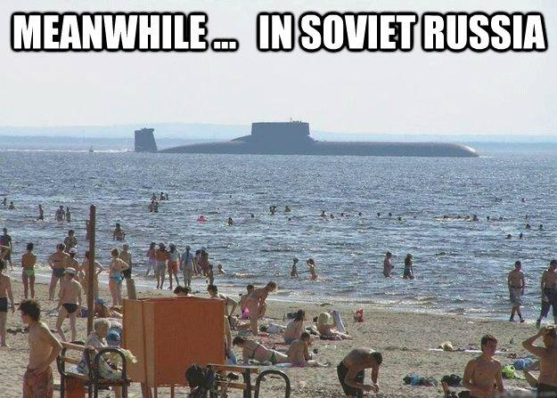 Meanwhile in Soviet Russian Beach