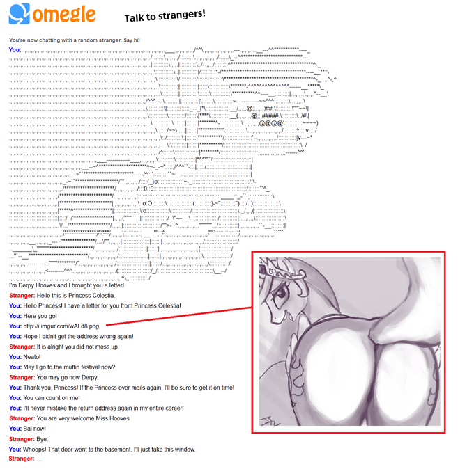 Derpy Hooves and Princess Celestia Meet on Omegle