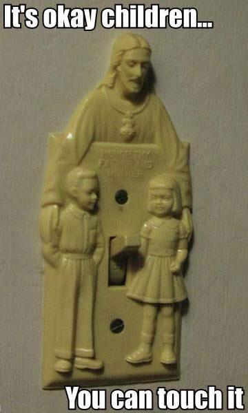 Jesus Pedophile Light Switch