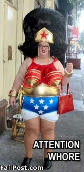 Fat Wonder Woman As The Attention Whore