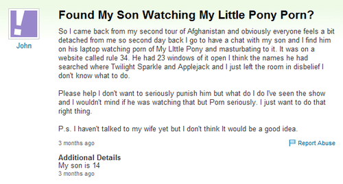 Troll On Yahoo Answers My Little Pony Friendship Is