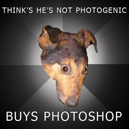 Not photogenic? BUY PHOTOSHOP